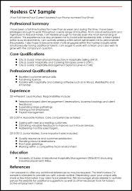 hostess sample resume hostess cv sample myperfectcv