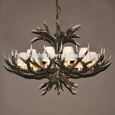 ac rustic deer faux antler chandelier light large decorative pottery barn faux antler chandelier