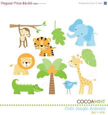 baby shower zoo animals. Delighful Baby 40 OFF SALE Cute Jungle Animals Clip Art To Baby Shower Zoo A