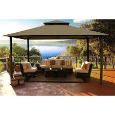 metal gazebo with curtains patio gazebos patio accessories patio furniture the home depot patio gazebos and canopies metal gazebo curtains