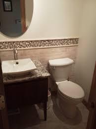 bathroom remodel des moines. Half Bath With Vessel Sink And Tile Back Splash Bathroom Remodel Des Moines U