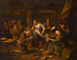 Marriage Contract Painting By Steen Jan