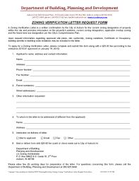 Fillable Online Zoning Verification Letter Request Form Docx Fax