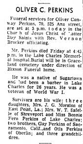 Oliver Conway Perkins Obituary - Newspapers.com