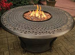 charleston cast top aluminum propane gas fire pit table