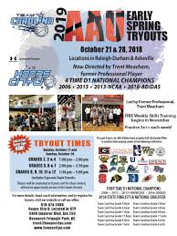early spring 2019 aau tryouts october 28