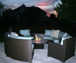 interior surging patio furniture sets with fire pit gas table set for amazing patio