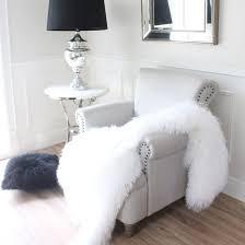 snow white tibetan mongolian sheepskin fur throw blanket eluxury home