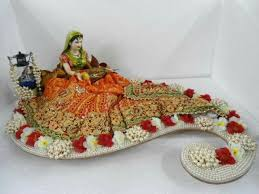 Saree Tray Decoration RANJANA ARTS WWWRANJANAARTSCOM trousseau packing wedding packing 78