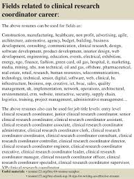 clinical research coordinator resume sample entry level clinical research coordinator cover letter