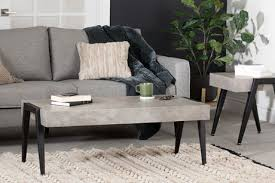 south s city life concrete gray and black coffee table