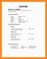 Refrences On Resume Personal Reference For Resume Resume Examples With References