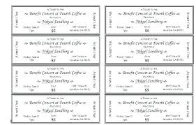 Free Concert Ticket Template Best Concert Ticket Invitation Template Free Lovely Movie Printable