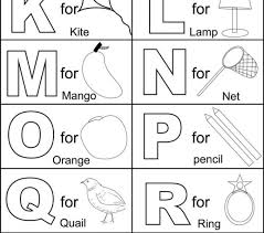 alphabet coloring pages for kids