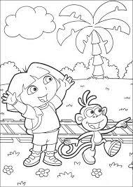 Kleurplaat Dora De Verkenner Dora En Boots Coloring Dora