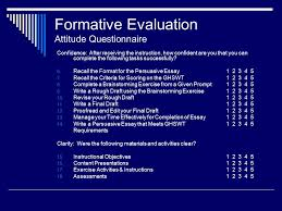 the persuasive essay an instructional design model ppt  38 formative evaluation attitude questionnaire