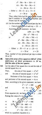 quadratic equations cbse ncert solutions class 10 maths laq 01