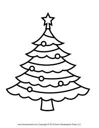 Blank Christmas Tree Outline  Christmas Lights DecorationChristmas Tree Outline Clip Art