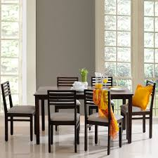 dining room tables. Eastern Solid Wood 6Seater Dining Table Set Room Tables