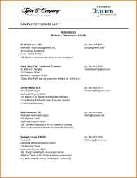 015 Template Ideas References For Resume Reference List Format