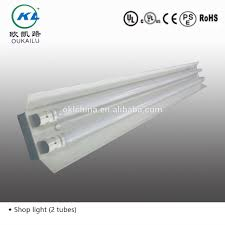 2ft 4ft 8ft surface mounted commercial t8 fluorescent lighting fixture with reflector from factory
