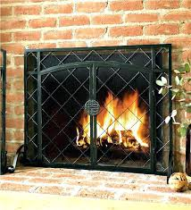 extra large fireplace screen cutom