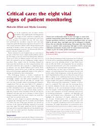 Pediatric Vital Signs Chart Pdf Pdf Critical Care The Eight Vital Signs Of Patient Monitoring