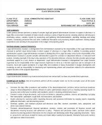 Sample Legal Assistant Resume Legal Assistant Resume Legal Secretary ...