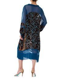 Raoul Size Chart 1920s Raoul Dufy Style Silk Burnout Velvet Dress Size M L