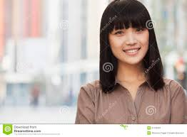 Chinese Woman Hair Style portrait of smiling confident young woman with bangs and long 8189 by wearticles.com