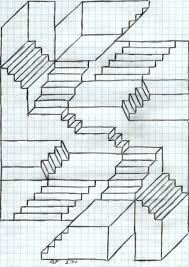 Der mann ist die treppe (ürztruntergest). Treppen Zeichnen
