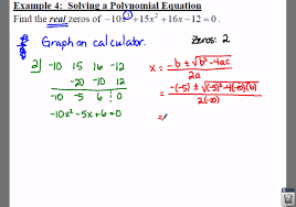 college algebra 3 4 notes example 4 solving a polynomial equation