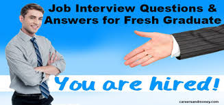 Accounting Interview Questions Inspiration Job Interview Questions And Answers For Freshers