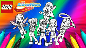 Dc Super Hero Girls Coloring Page Lego Coloring Book Youtube