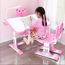 So sánh giá]Bàn học chống gù chống cận A601 bàn học thông minh bàn học cho  trẻ nâng hạ độ cao mặt bàn và ghế tùy ý có đèn led - Giá