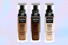 nyx to launch can t stop won t stop foundation in 45 shades exclusive allure