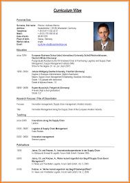 Latest Sample Of Resume 24 Latest Curriculum Vitae Format Edu Techation 14