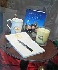 my posts of the downton abbey the exhibition were so detailed i forgot to show you what was in the gift pe on the way out the door here are some items