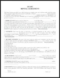 One Page Lease Agreement Free Commercial Lease Agreement Template One Page Form