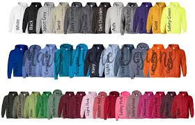 Every Color Digital File Shirt Color Chart Gildan 185