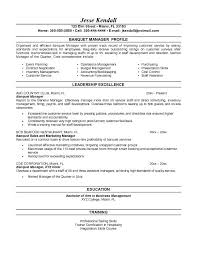 resume for catering manager