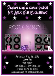 Free Templates For Invitations Birthday Rock Star Birthday Invitation Templates Songwol d100a100b100f100 97