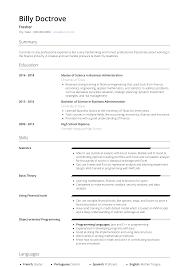Fresher Resume Samples Templates Visualcv