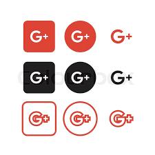google plus button vector. Fine Button Collection Of Google Plus Social Media Icons Vector  Stock Vector  Colourbox Inside Google Plus Button R