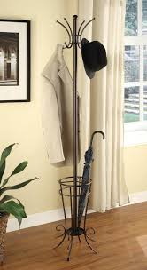wrought iron coat rack stand wall mounted and free standing racks kings  brand brown finish metal . wrought iron coat rack ...