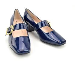 modshoes blue patent 60s mary janes style shoes