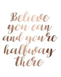 rose gold wall art quotes