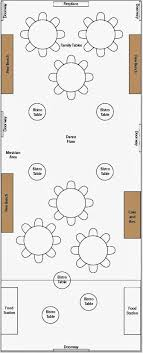 wedding reception layout floor plan example for wedding and reception in the same room