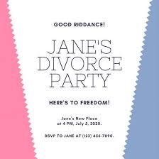 Party Template Customize 3 999 Divorce Party Invitation Templates Online Canva