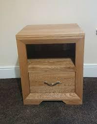 oak furniture land bevel bedside table